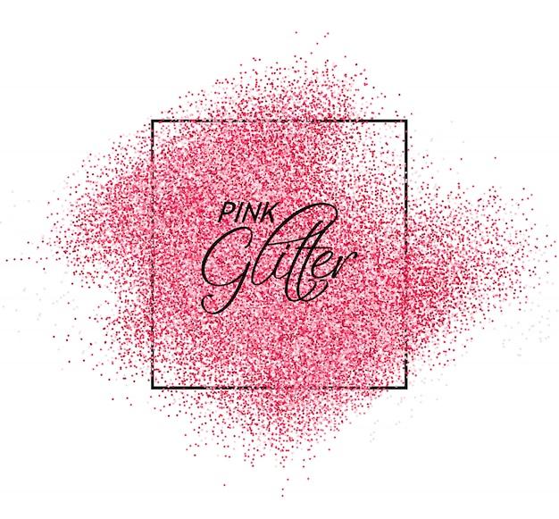Efeito de glitter rosa com textura brilhante Vetor Premium