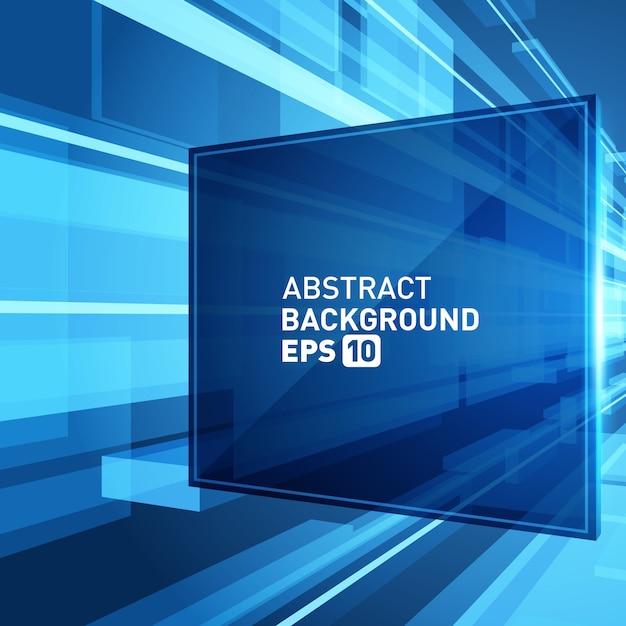 Efeito de grade abstrato do espaço da realidade virtual 3d do fundo. Vetor Premium