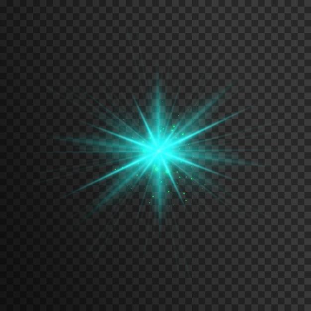 Efeito de luz azul Vetor Premium