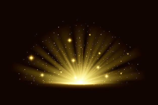 Efeito de luz brilhante do nascer do sol Vetor grátis