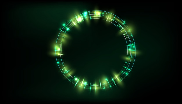 Efeito de luz brilho transparente Vetor Premium