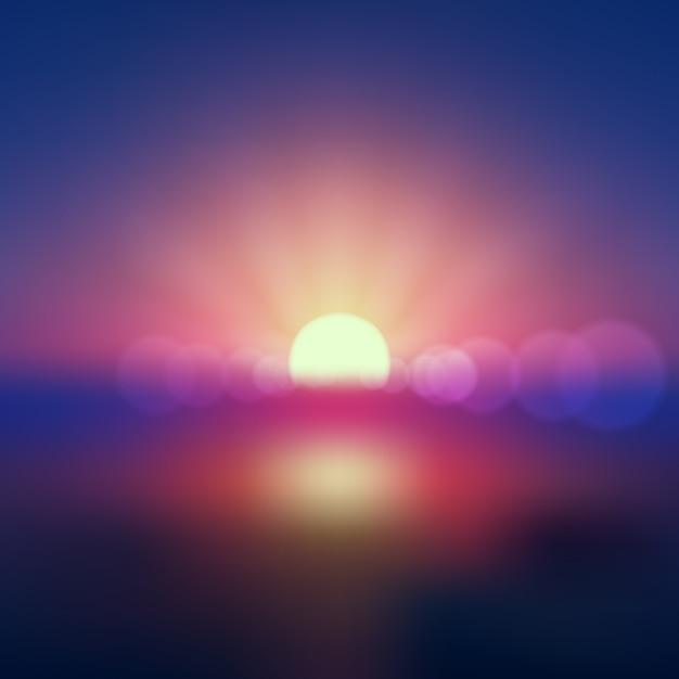 Efeito de luz do nascer do sol da terra em cores degradê Vetor grátis