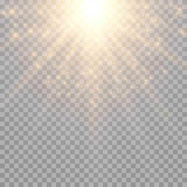 Efeito de luz no céu, explosão Vetor Premium