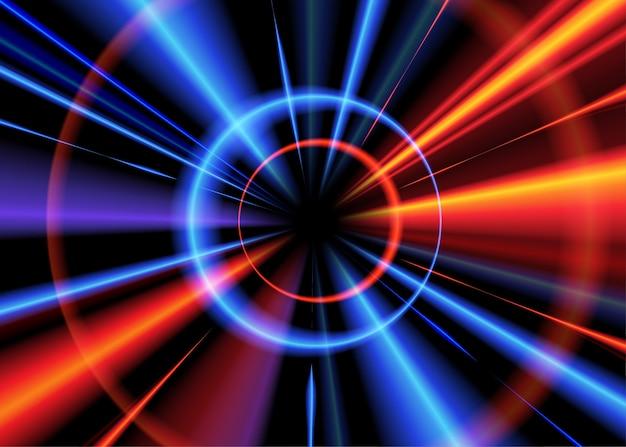 Efeito de luz radial Vetor Premium