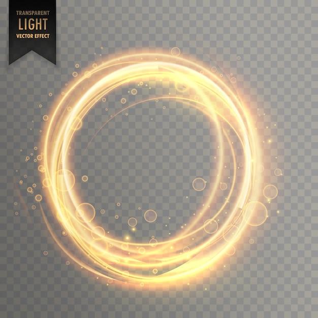Efeito de luz transparente com brilhos dourados circlular Vetor grátis