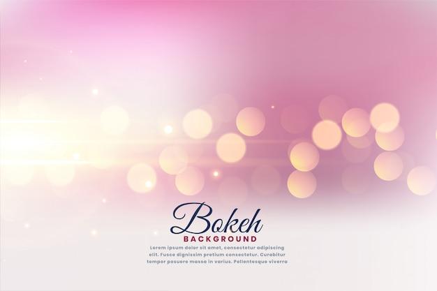 Efeito de luzes bokeh bonito fundo desfocado Vetor grátis