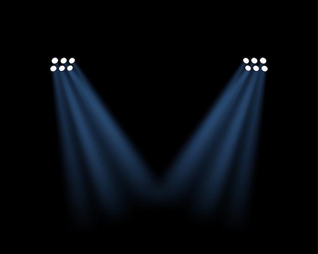 Efeito de luzes do estádio transparente Vetor Premium