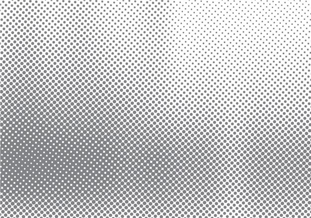 Efeito de movimento de meio-tom abstrato com gradação de ponto de desvanecimento Vetor Premium