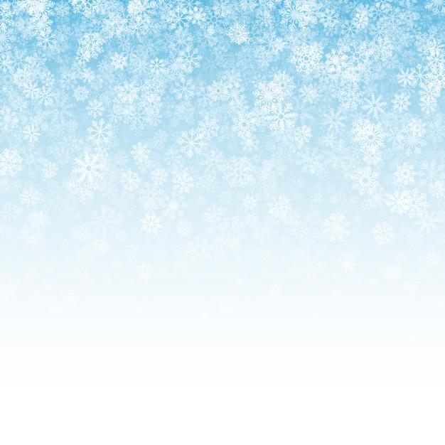 Efeito de neve caindo fundo claro Vetor Premium