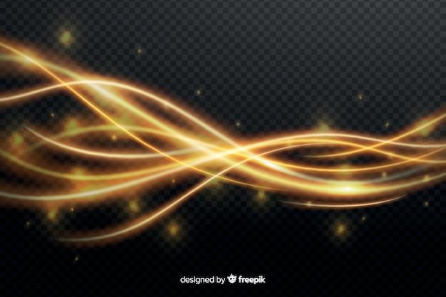 Efeito de onda de luz amarela sem fundo Vetor grátis