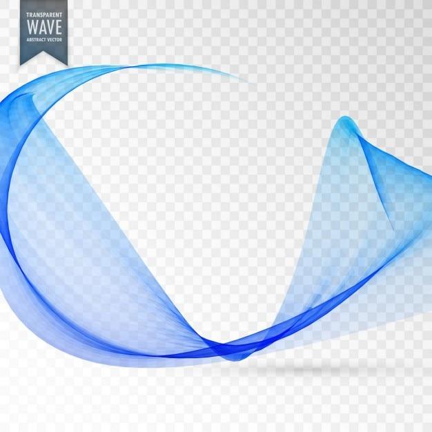 efeito de onda transparente na cor azul Vetor grátis