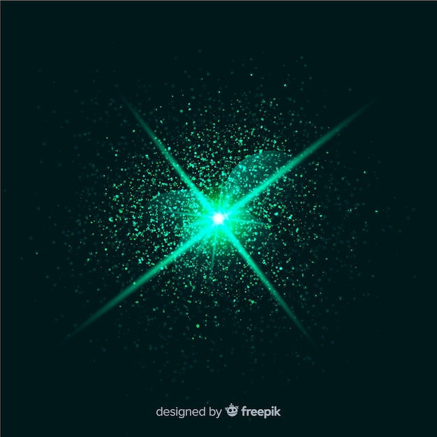 Efeito de partícula de explosão verde abstrato Vetor grátis