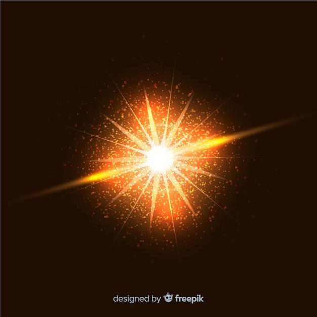 Efeito de partículas de explosão chamativo abstrata Vetor grátis