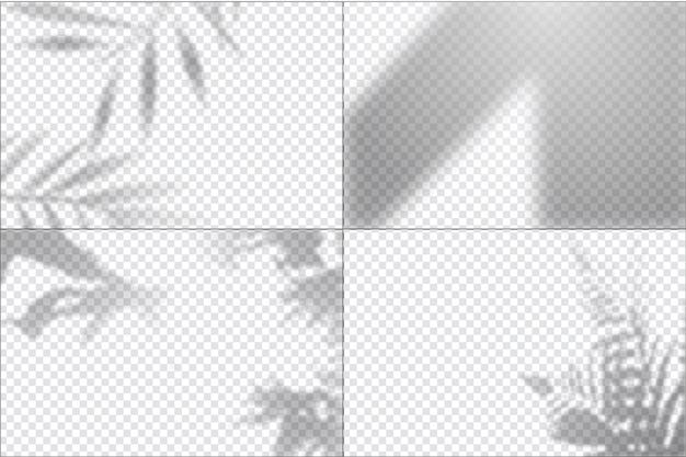 Efeito de sobreposição de sombras transparentes Vetor grátis