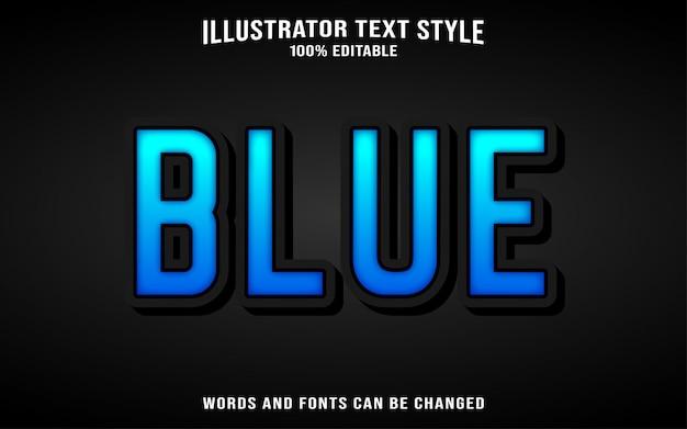 Efeito de texto azul Vetor Premium