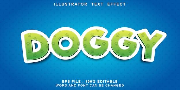 Efeito de texto canino editável Vetor Premium