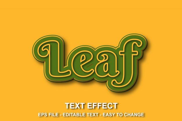 Efeito de texto cor amarela e verde Vetor Premium