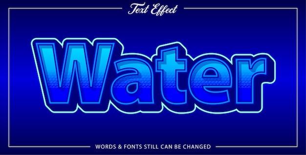 Efeito de texto de água Vetor Premium