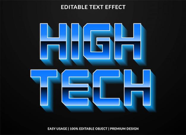 Efeito de texto de alta tecnologia Vetor Premium