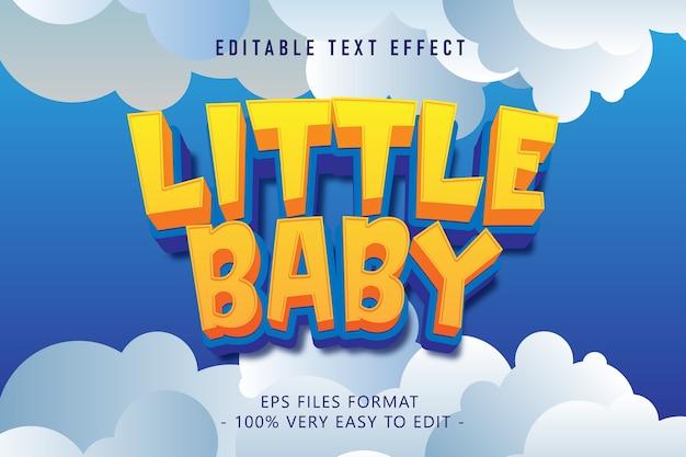 Efeito de texto de bebê de desenho animado, texto editável Vetor Premium