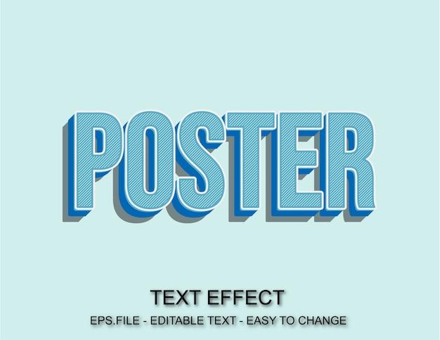 Efeito de texto de cartaz de pop art Vetor Premium