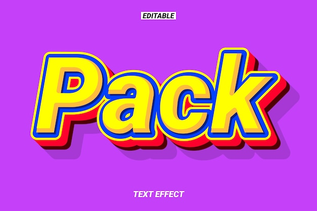 Efeito de texto de desenho animado colorido Vetor Premium