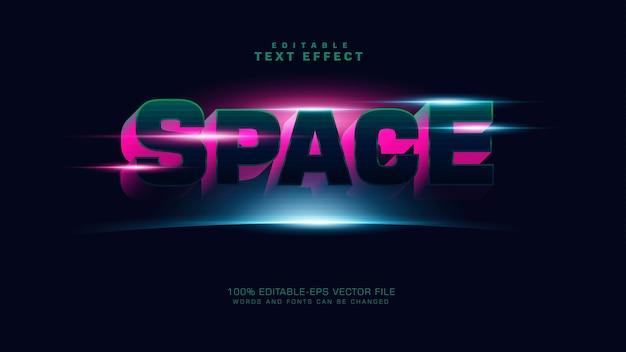 Efeito de texto de espaço 3d Vetor grátis