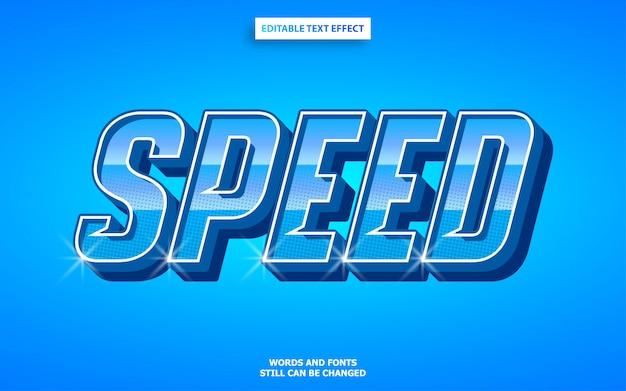 Efeito de texto de esportes de corrida automotiva de velocidade Vetor Premium