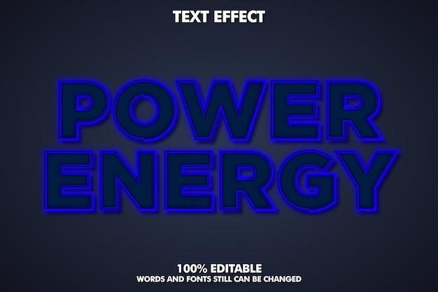 Efeito de texto de luz de néon azul Vetor grátis