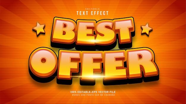 Efeito de texto de melhor oferta Vetor grátis