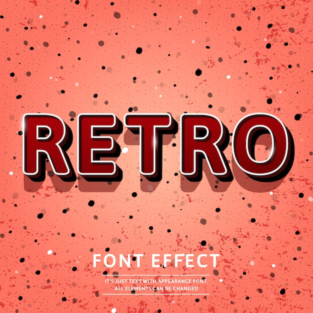 Efeito de texto do título 3d retro vintage Vetor Premium