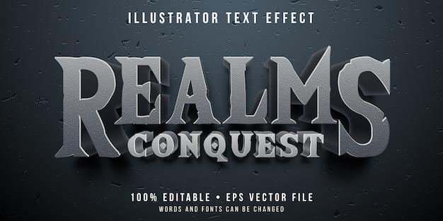Efeito de texto editável - conquistando o estilo de jogo Vetor Premium