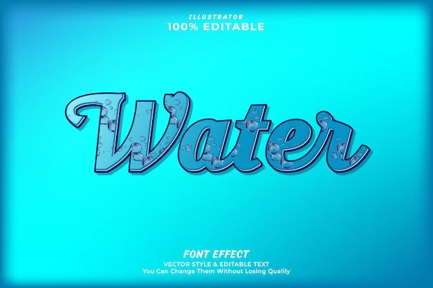Efeito de texto editável de gota de água premium Vetor Premium