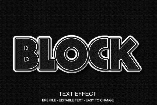 Efeito de texto editável em negrito Vetor Premium