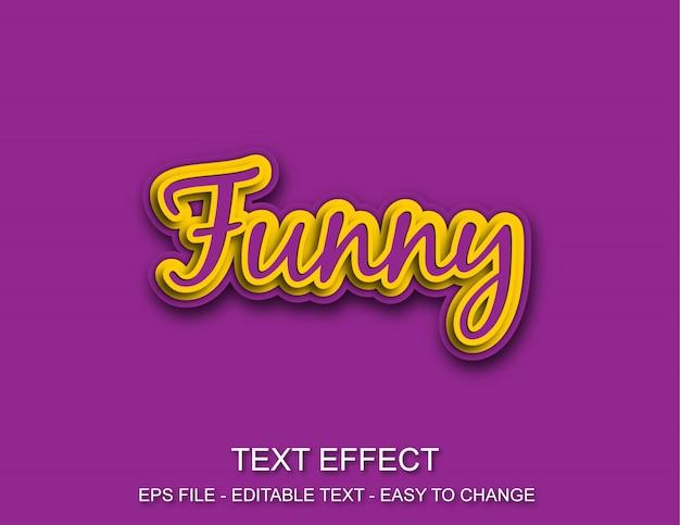 Efeito de texto editável engraçado Vetor Premium