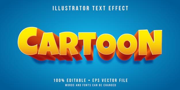 Efeito de texto editável - estilo de desenho animado Vetor Premium