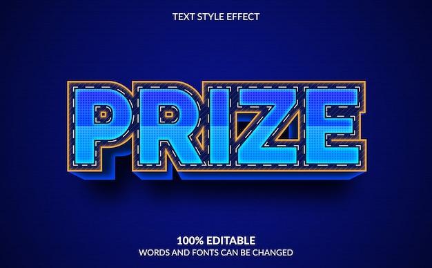 Efeito de texto editável, estilo de texto premiado Vetor Premium