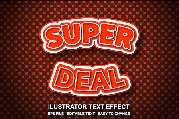 Efeito de texto editável estilo super deal Vetor Premium