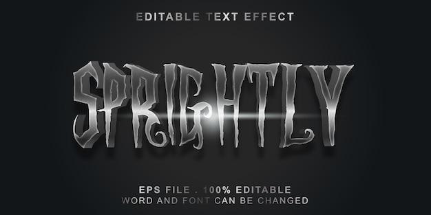 Efeito de texto editável moderno Vetor Premium