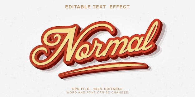 Efeito de texto editável novo 3d normal Vetor Premium