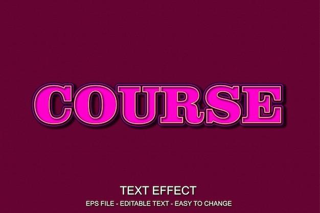 Efeito de texto editável roxo Vetor Premium