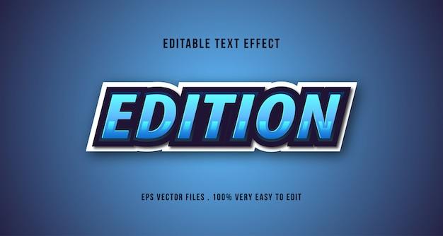 Efeito de texto esport 3d, texto editável Vetor Premium