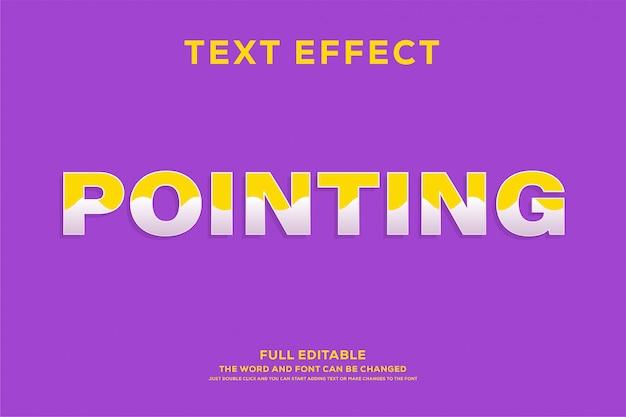 Efeito de texto fresco estilo amarelo e roxo Vetor Premium