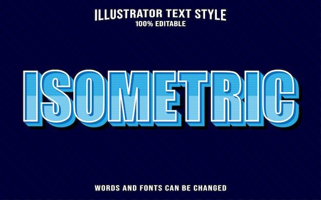 Efeito de texto isométrico Vetor Premium