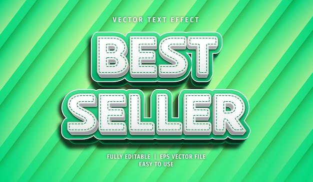 Efeito de texto mais vendido, estilo de texto editável Vetor Premium