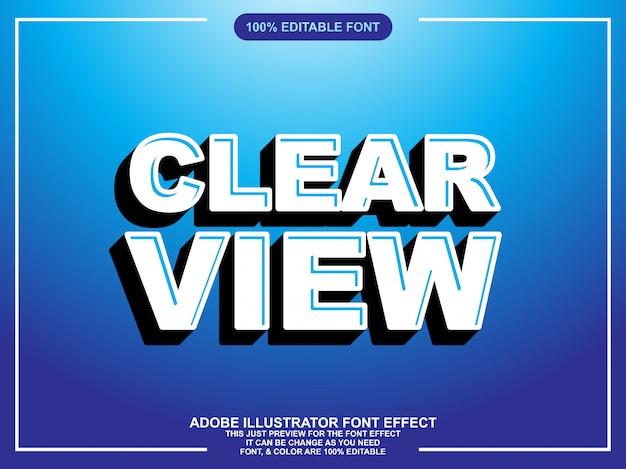 Efeito de texto moderno editável negrito editável Vetor Premium
