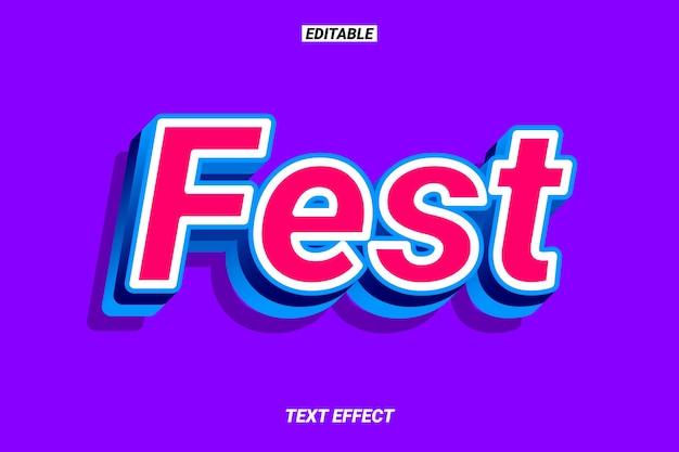 Efeito de texto moderno em vermelho e azul Vetor Premium