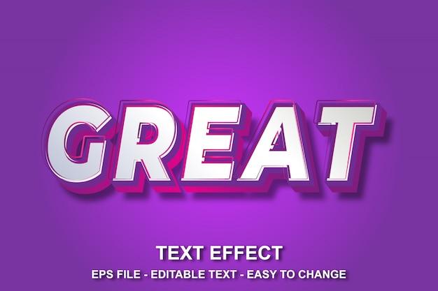 Efeito de texto moderno estilo moderno Vetor Premium