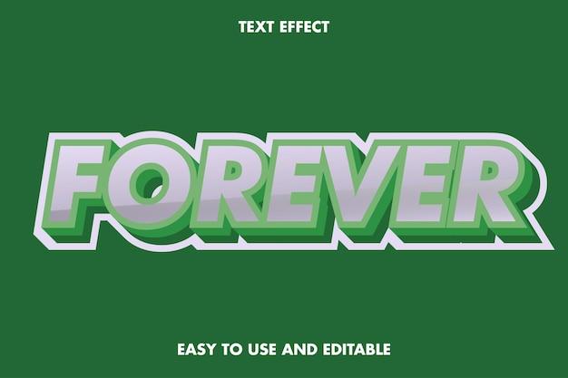 Efeito de texto para sempre. fácil de usar e editável. Vetor Premium