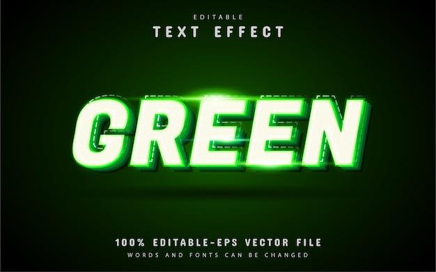 Efeito de texto verde com linha pontilhada Vetor Premium